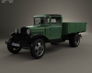 3D model of GAZ-AA Flatbed Truck 1932