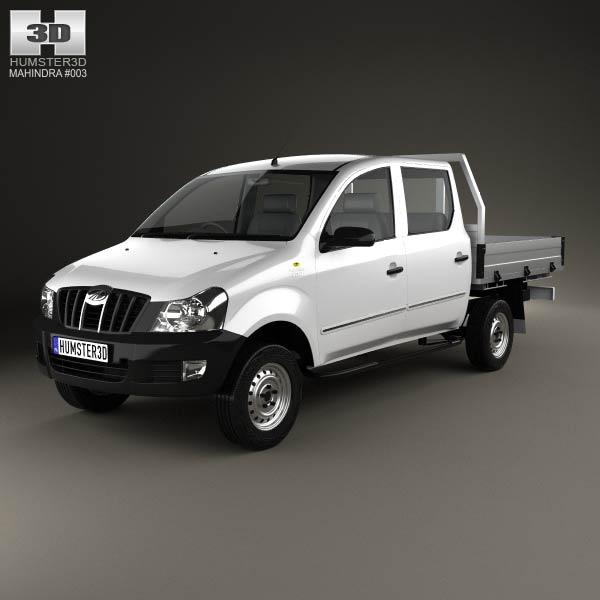 3D model of Mahindra Genio Dual Cab Pickup 2011
