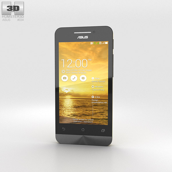 3D model of Asus Zenfone 4 Solar Yellow