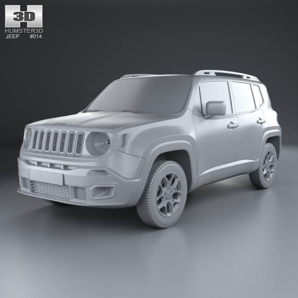 jeep renegade latitude 2015 3d model humster3d. Black Bedroom Furniture Sets. Home Design Ideas