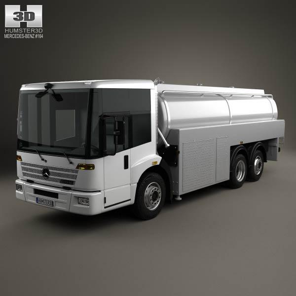 Mercedes benz econic tanker truck 2013 3d model humster3d for Mercedes benz truck 2013