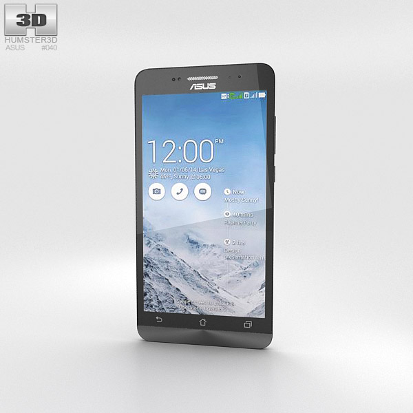 3D model of Asus Zenfone 6 Pearl White