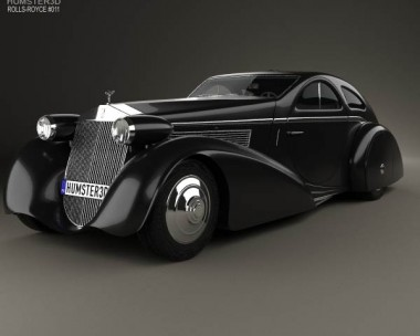 3D model of Rolls-Royce Phantom Jonckheere Coupe 1934