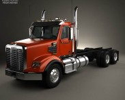 3D model of Freightliner Coronado SD Chassis Truck 2009