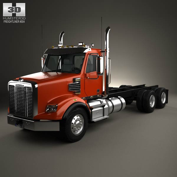 Freightliner Coronado Sd Chassis Truck 2009 3d Model Humster3d
