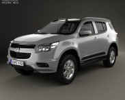 3D model of Holden Colorado 7 2012