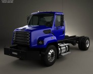 3D model of Freightliner 108SD Chassis Truck 2011
