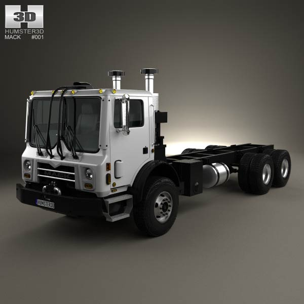 3D model of Mack Terrapro Chassis Truck 2007