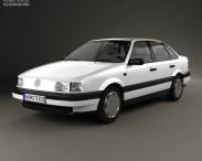 3D model of Volkswagen Passat (B3) sedan 1988
