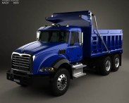 3D model of Mack Granite Dump Truck 2002
