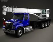 3D model of Freightliner 114SD Crane Truck 2011