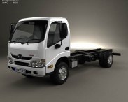 3D model of Hino 300-616 Chassis Truck 2011