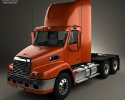 3D model of Freightliner Century Class Tractor Truck 2011