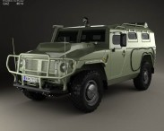 3D model of GAZ Tiger-M 2011