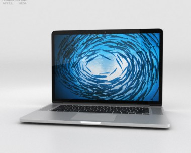 3D model of Apple MacBook Pro with Retina display 15 inch 2014