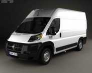 3D model of Dodge Ram Pro Master Cargo Van L2H2 2013