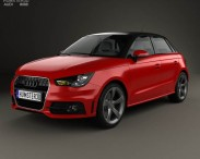 3D model of Audi A1 sportback 2012