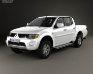 3D model of Mitsubishi L200 Triton Double Cab 2012