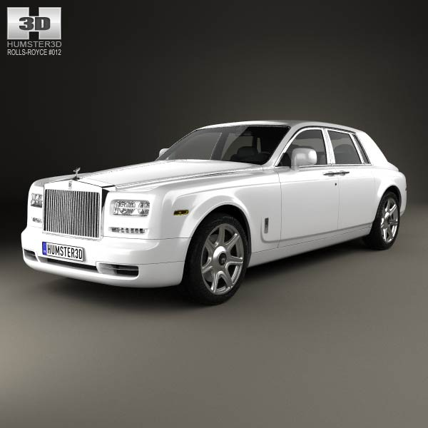 Rolls Royce 3d Model Free >> Rolls-Royce Phantom sedan 2012 3D model - Humster3D