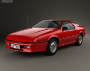 3D model of Chrysler Daytona Shelby Z 1987