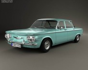 3D model of Chevrolet Corvair sedan 1960