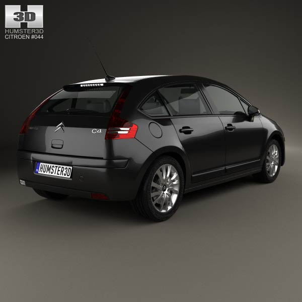 citroen c4 hatchback 2008 3d model humster3d. Black Bedroom Furniture Sets. Home Design Ideas
