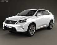 3D model of Lexus RX F-sport hybrid 2012