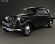 3D model of Citroen Traction Avant 1934