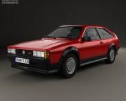 3D model of Volkswagen Scirocco 1986