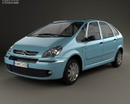 3D model of Citroen Xsara Picasso 2004
