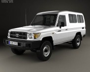 3D model of Toyota Land Cruiser (J78) 2010