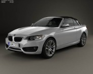 3D model of BMW 2 Series convertible 2014