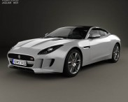 3D model of Jaguar F-Type R coupe 2014