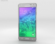 3D model of Samsung Galaxy Alpha Sleek Silver
