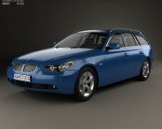 3D model of BMW 5 Series touring (E61) 2007