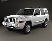 3D model of Jeep Commander (XK) Limited 2006