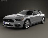3D model of Ford Mustang convertible 2015