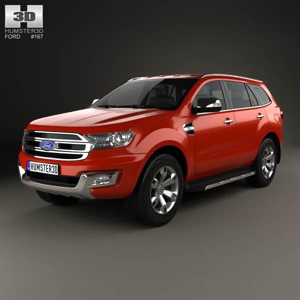 3D model of Ford Everest 2014