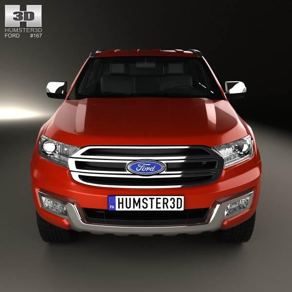 Ford Everest 2014 3D model - Humster3D