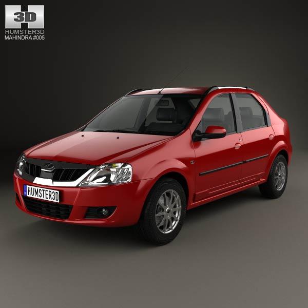 3D model of Mahindra Verito 2012