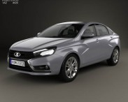 3D model of VAZ Lada Vesta 2014
