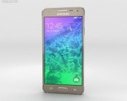 3D model of Samsung Galaxy Alpha Frosted Gold
