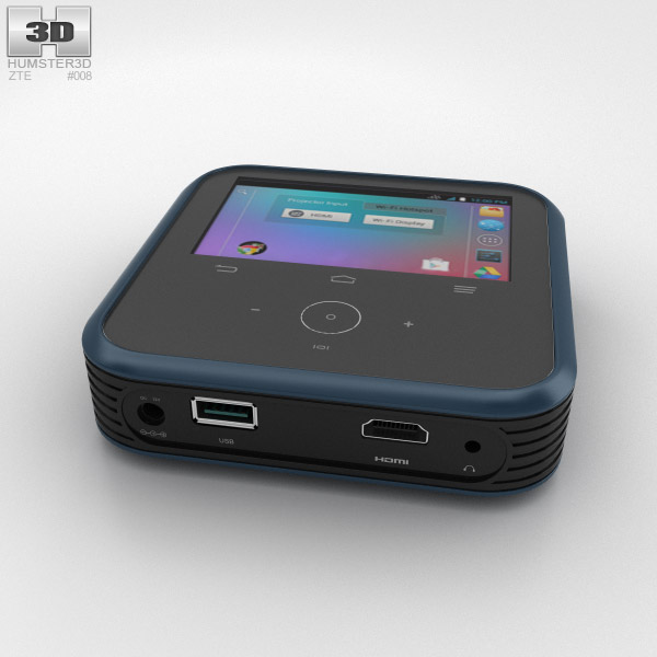 3D model of ZTE MF97A: Android-powered Wi-Fi hotspot