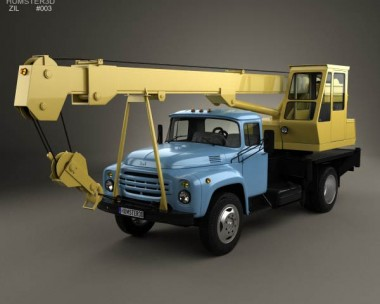 3D model of ZIL 130 Crane Truck 1964