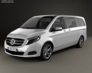 3D model of Mercedes-Benz V-Class 2014