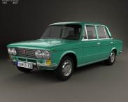 3D model of VAZ Lada 2103 1972