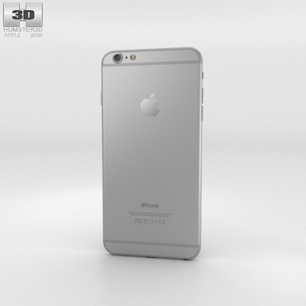 Apple iPhone 6 Plus Silver 3D model - Humster3D