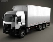 3D model of Volkswagen Constellation Box Truck 2011