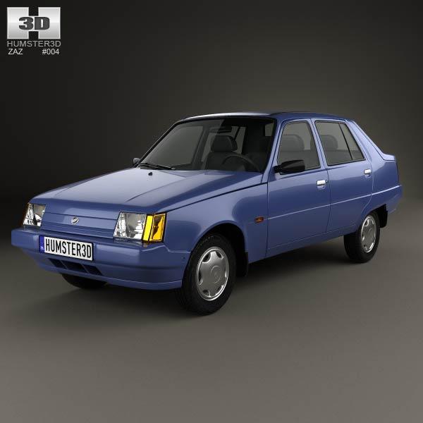 3D model of ZAZ Slavuta (1103) 1999