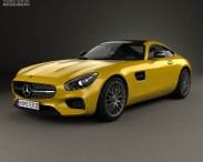 3D model of Mercedes-Benz AMG GT 2014